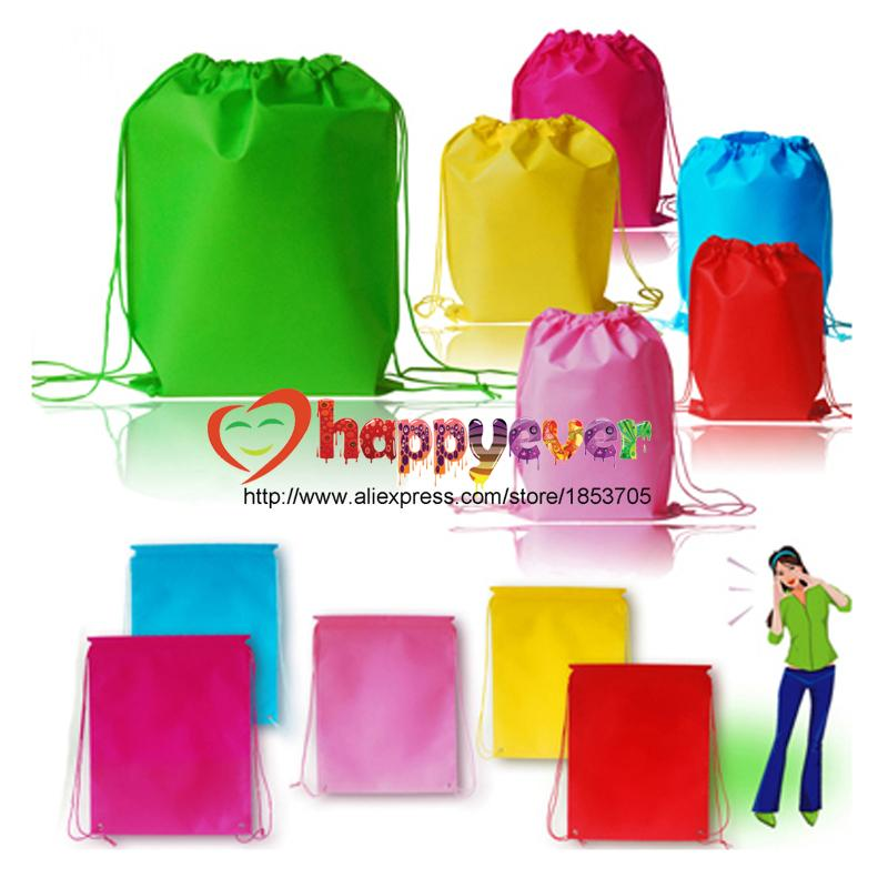 Wholesale Colorful Non Woven Reusable Kids Backpack Goodie Bag For Boy Girl Birthday Party Favors Supplies Treat Giveaways
