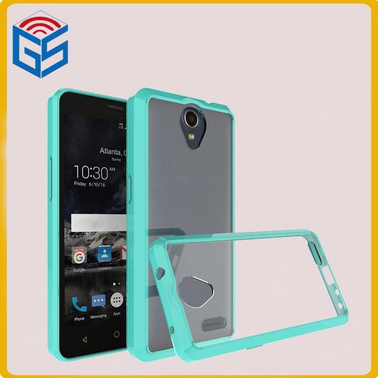 competitive price ab6e4 399ea Hot Sale 2 in 1 Soft Bumper Case Clear Back Hard Phone Cover For ZTE  Prestige 2 Prestige2 N9136
