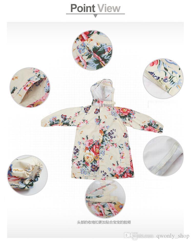 2017 moda meninas capa de chuva coréia adorável grande flor criança adulto crianças capa de chuva poncho capa de chuva bebê outwear clothing