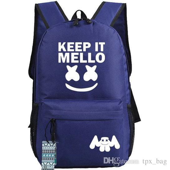 97a75c1aa7 Keep It Mello Backpack Marshmello Daypack Nice DJ Fans Schoolbag Music  Rucksack Sport School Bag Outdoor Day Pack Ogio Backpack Rucksacks From  Tpx bag