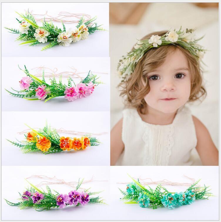 Compre Tieback Flower Crown Diadema De Flores Baby Girl Niño Pequeño ...