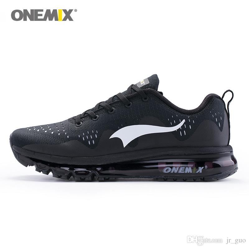 71842d1a187c 2019 ONEMIX Man Running Shoes For Men Air Mesh Breathable Athletic Trainers Black  Sports Sneakers Male Wave Cushion Shox Outdoor Walking Footwear From ...