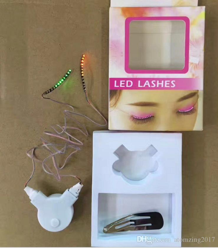 New 2017 Led Light False Eyelashes Design For Halloween Christmas Party Decoration Maquiagens 3d Led Fake Eyelashes Extension