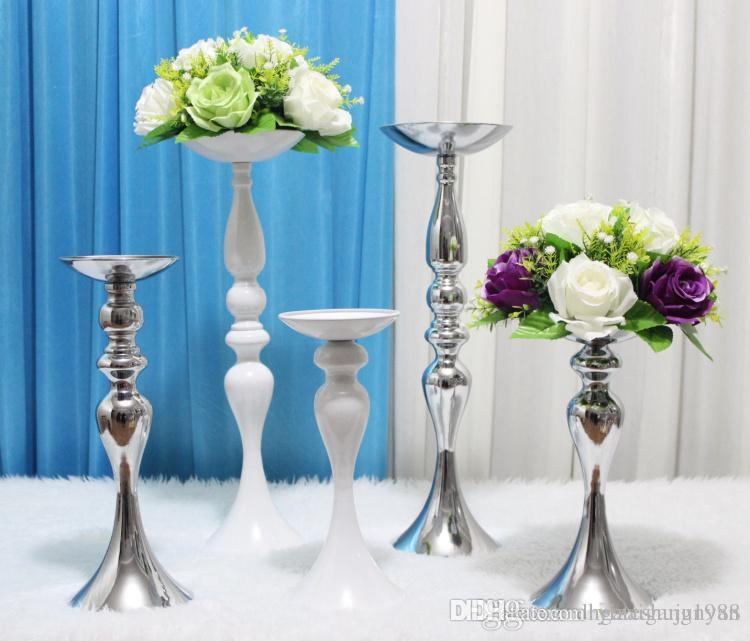 Upscale Wedding Table Decoration Flower Stands Candlestick T Station Road  Lead Stainless Steel Columns Main Table Flower Vase Pendulum Props Event ...