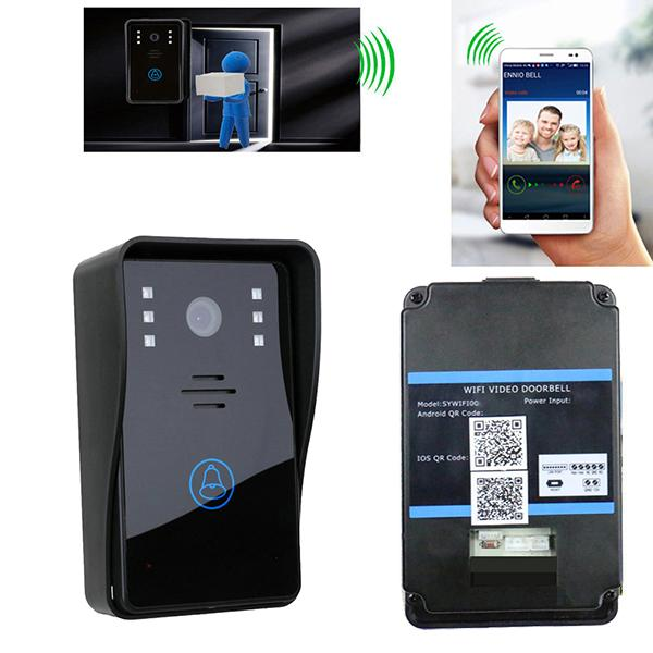 Wholesale- Wireless WiFi Video Door Doorbell Intercom System for mobile  phone IOS Android App IR Night Vision Door Ring Remote Controller
