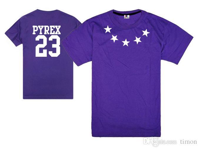Kany west pyrex vision 23 t shirt harajuku stylish men hip hop rock swag tee shirts cotton short sleeve classical tees summer