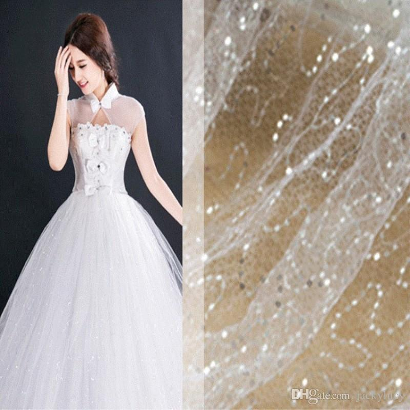 Shiny Embroidery Sequin Mesh Fabric For Dress And Wedding Party ...
