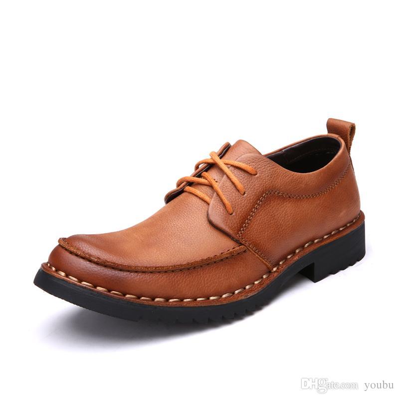85cfe23bf Compre Laoks Zapatos De Vestir Para Hombres Zapatos De Cuero Para Caballeros  Con Punta Cuadrada Zapatos De Moda Para Hombres De Moda Zapatos Deportivos  Para ...