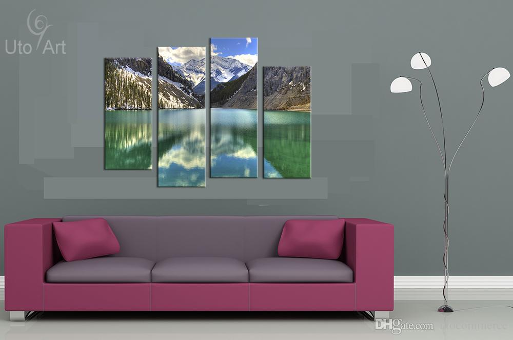 Wall Decor Painting Mountain Landscape Art Print Decorative Digital Picture Canvas Printing For Home Decoration
