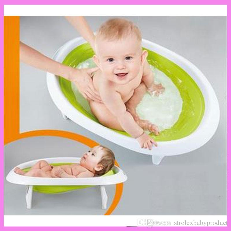 2018 2 In 1 Foldable Newborn Baby Bathtub Baby Sitting Lying Shower ...