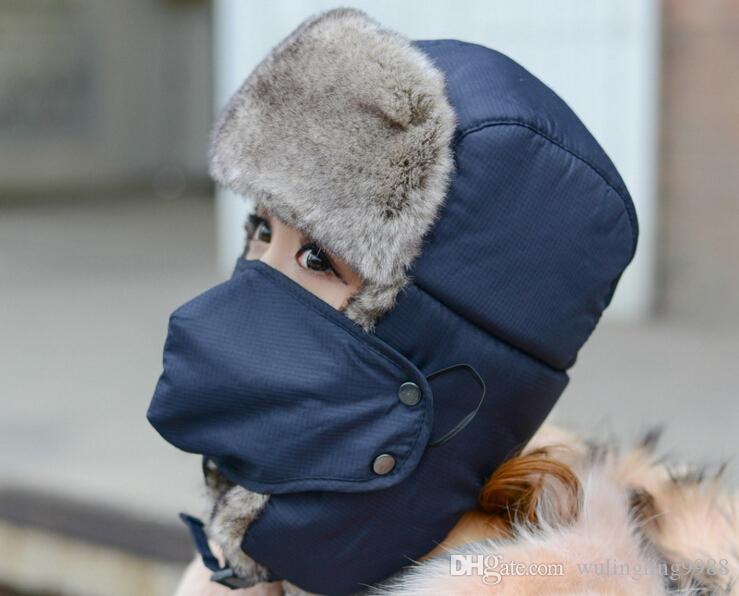 Winter Warme Trapper Hut Ohrklappen Bomber Faux Pelzkappen Unisex Proof Trapper Caps Snow Cap Russische Hut MOQ 20 STÜCKE