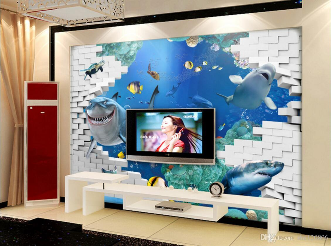 3d room wallpaper custom photo non-woven mural Marine life TV setting decoration painting picture 3d wall murals wallpaper for walls 3 d