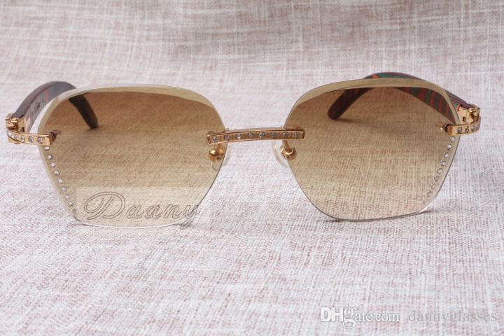 erkek ve dişi için 2019 Yeni stil yüksek kaliteli lüks moda Elmas Peacock ahşap Güneş 8100909 Gümüş kahverengi lens boyutu: 60-18-135mm