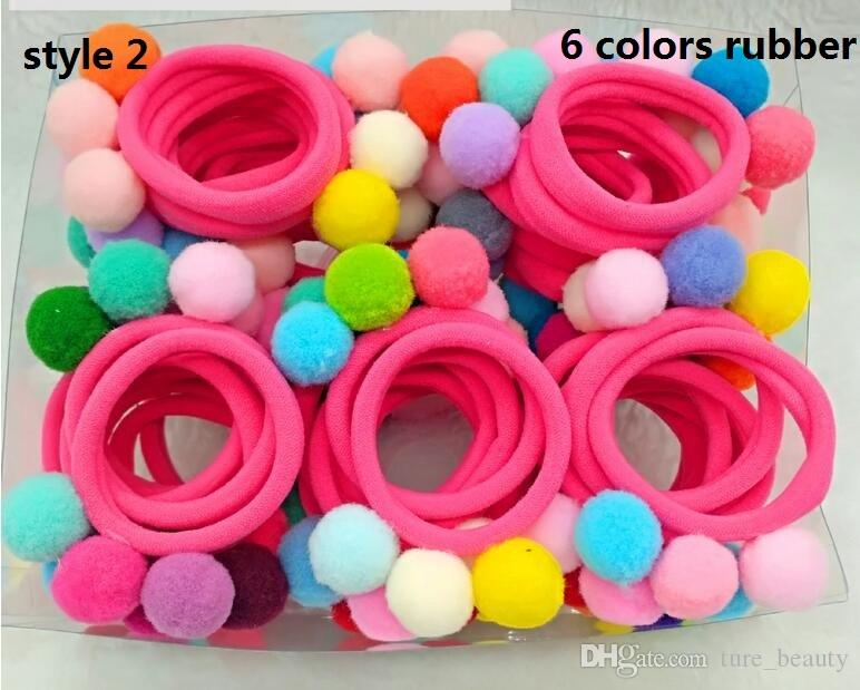 Diy Pom Pom Hair Rubber Band Elastic Colorful Hair Rope Rings Ties Bands  Ponytail Holders Girls Hairband Hair Accessories   Babies Headbands Hair ... ccb086f2499
