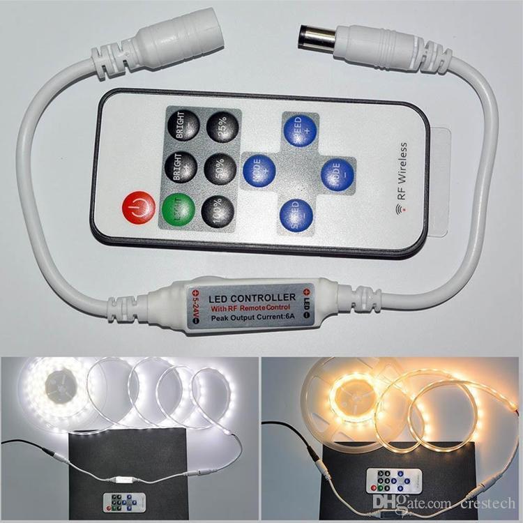 Dimmer LED Strip Light Accessori Adattatore alimentatore 5-24V 12A Connettore trasformatore di illuminazione 3528 5630