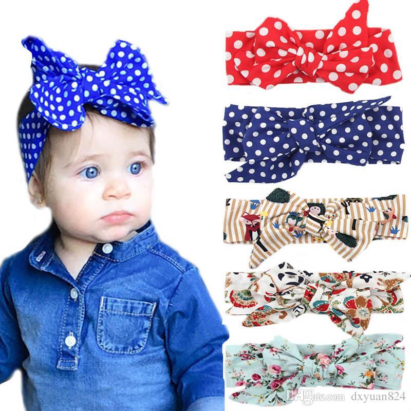 40bc8dba4c7 Baby Girls DIY Bowknot Headbands Turban Children Infant Kids Fashion ...