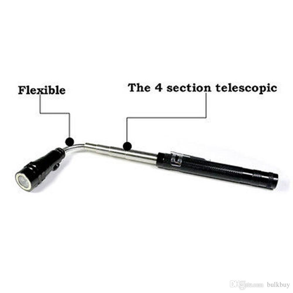 Strapazierfähiger Aluminiumkoffer Teleskop Flexible 3 LED Taschenlampe Magnetic Pick Up Werkzeug Lampe Licht großhandel