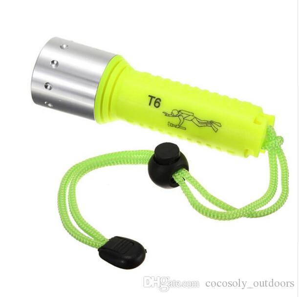 Torcia subacquea 2000LM XML XM-L T6 LED Torcia subacquea subacquea subacquea da 50 metri lanterna subacquea 18650