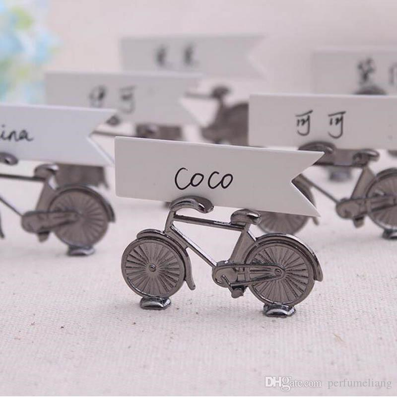 Creative Vintage Bicycle Bike Table Place Card Holder Name Number Wedding Party Memo Clip Restaurants Decoration S201727