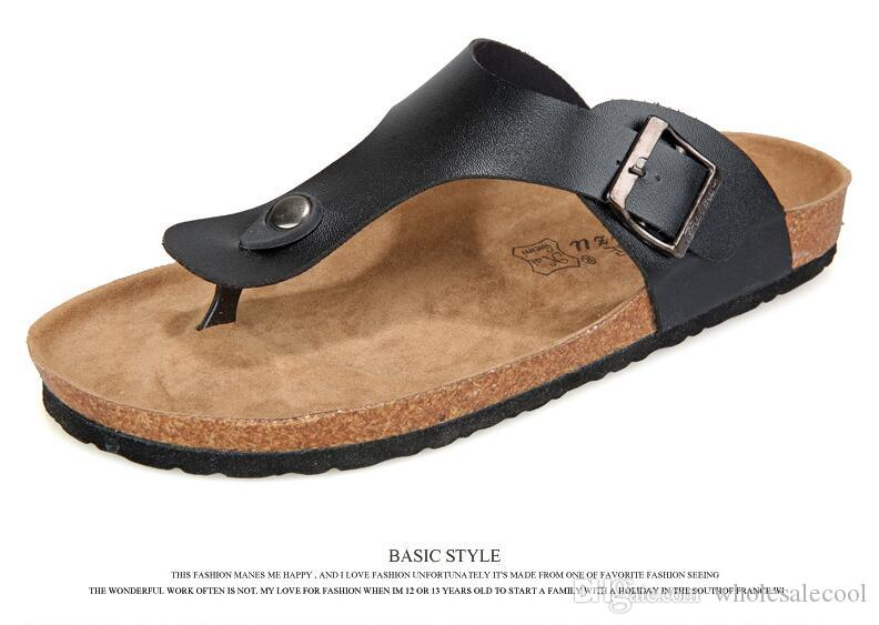 Acquista Scarpe Da Uomo Sandali Pantofole Estate Lady Flats Sandali Cork Slippers  Scarpe Casual Colori Misti Beach Slides Plus Size 39 44 A  24.03 Dal ... fac2b8718e0