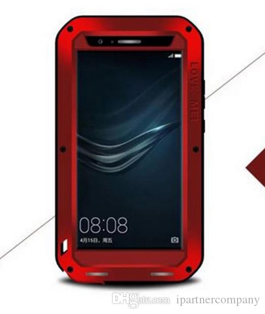 the best attitude 17be8 b223b Phone case Love Mei Slim Waterproof Shockproof Gorilla Glass Metal Aluminum  Cover for Huawei honor 6 Phone Case