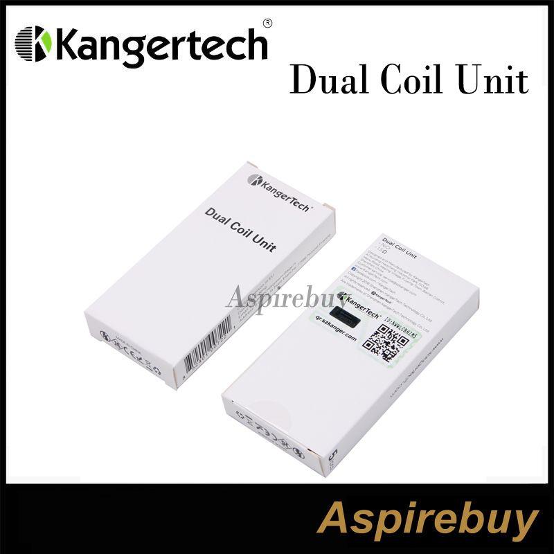 Genuine kanger Nuova testata Dual Coils kangertech Mini Aerotank Mega Aerotank Protank3 T3D EVOD2 BDC Clearomizer