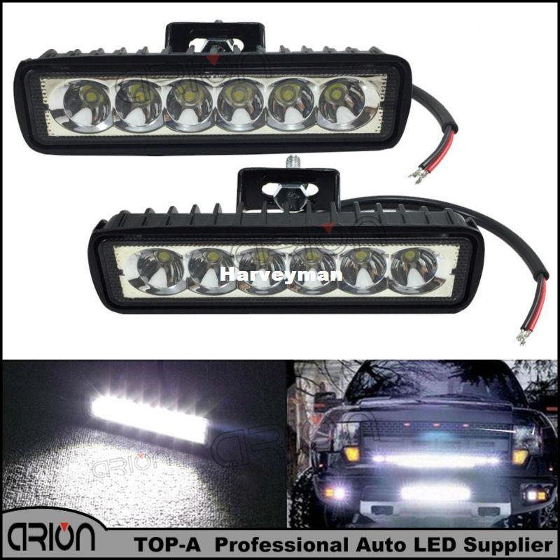 6 inch 18w led light bar 12v 24v motorcycle offroad 4x4 atv spot 6 inch 18w led light bar 12v 24v motorcycle offroad 4x4 atv spot daytime running lights truck tractor warning work spotlight daytime running led lights for aloadofball Choice Image