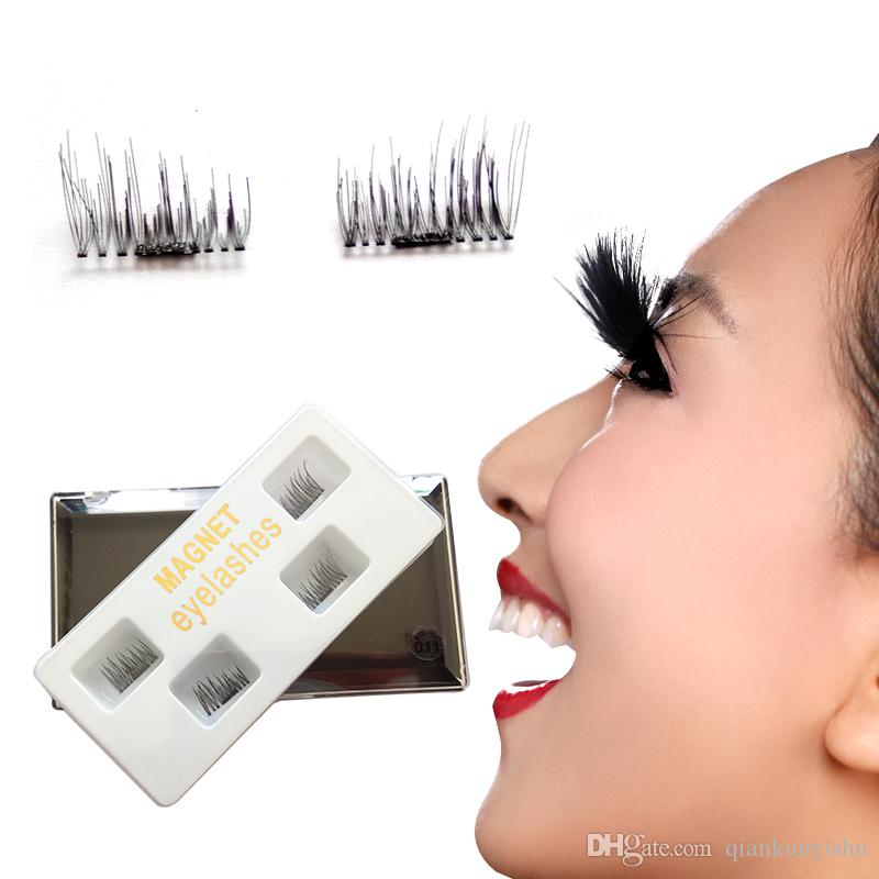 3d Reusable False Magnetic Eyelashes No Glue Convenient Soft Hair