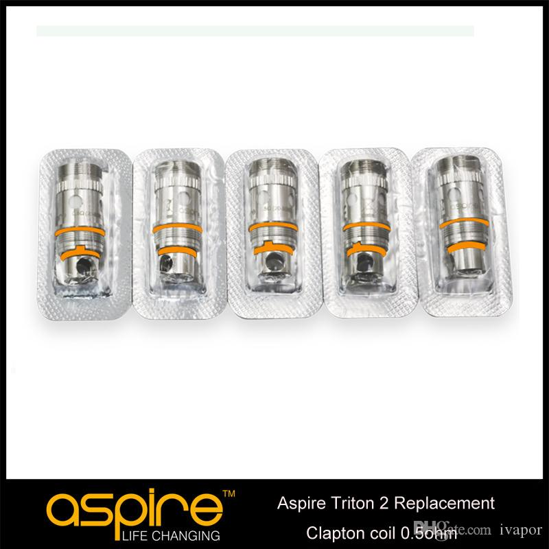 Original Aspire Triton 2 Replacement Clapton Coil 0.5ohm For Upgraded Aspire Triton 2 Atomizer E Cig Coil