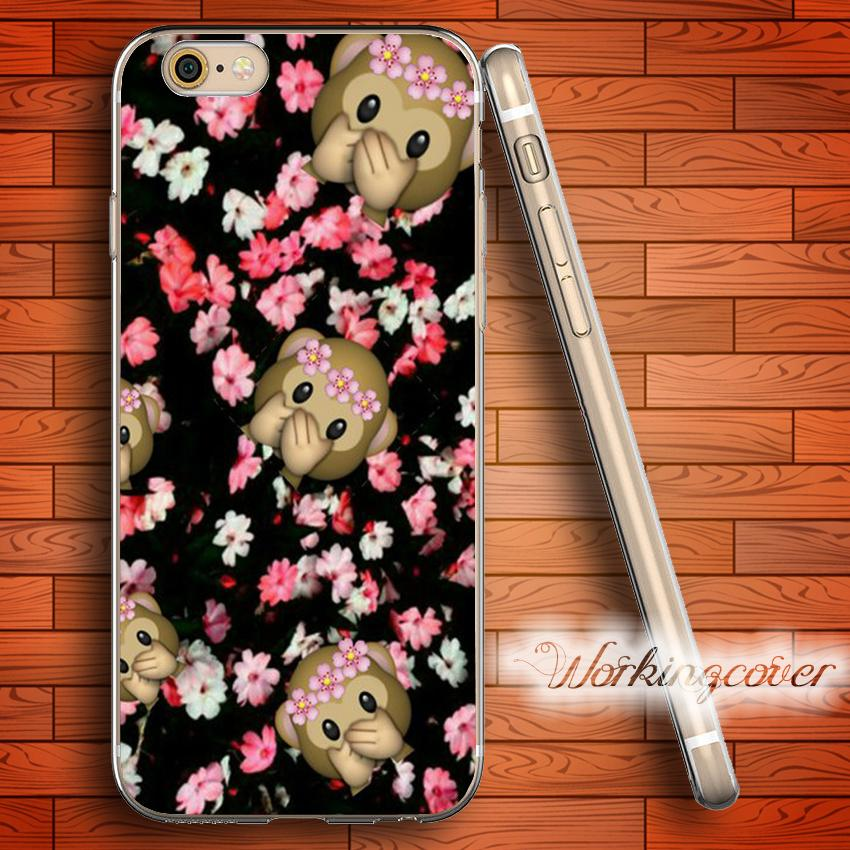 5a0bdbd8007 Tiendas De Fundas De Moviles Funda Fundas Monkey Emoji Rose Soft Clear TPU Para  IPhone 7 6 6S Plus 5S SE 5 5C 4S Funda De Silicona Para IPhone 4.