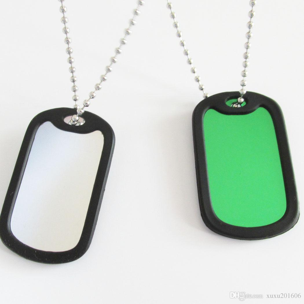 e11bb9aeb3eb Blank Military Dog Tags, Aluminum Alloy Blank Army Dog Tags With Silencer  And Bead Chains Service Dog Id Card Therapy Dog Id Card From Xuxu201606, ...