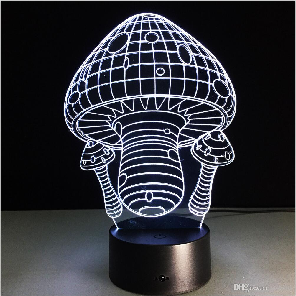 Neue Heiße Mode Neuheit Baseball Erde Skeleton Löwe Heißluftballon Planeten Hut Pilz 3D Bunte Gradient LED Kind Kind Baby Nachtlicht