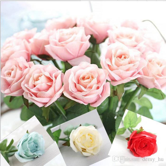 2018 artificial rose bouquets fake silk flower display floral of 2018 artificial rose bouquets fake silk flower display floral of real touch for wedding home decoration from demyhu 1285 dhgate mightylinksfo