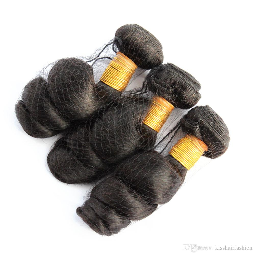 느슨한 웨이브 브라질 버진 헤어 버진 머리카락 묶음 천연 색상 페루 몽골 말레이시아 원시 인도 캄보디아 인간의 머리카락 확장