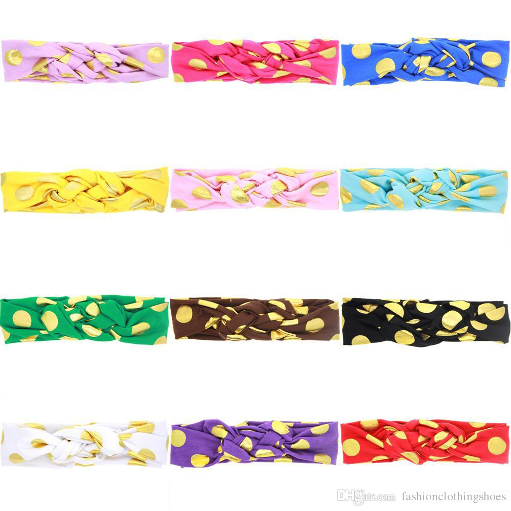2017 Hot Headbands For Girls Chinese Knot Knotted Baby Tiaras Christmas Meltic Dot Korean Hair Accessories 12 Styles