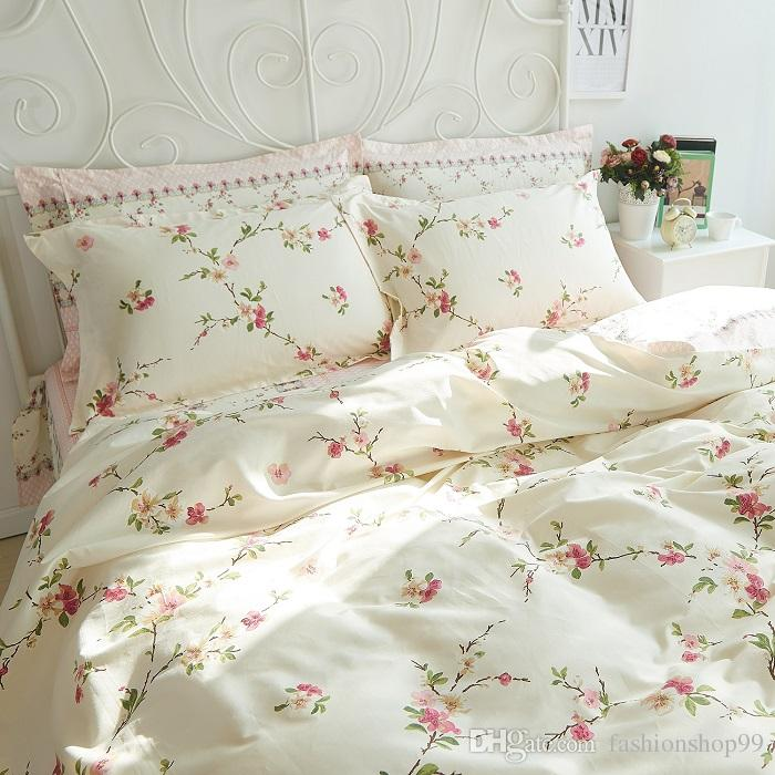 100 Cotton Bedding Set Chic Floral Bed Simple But Elegant