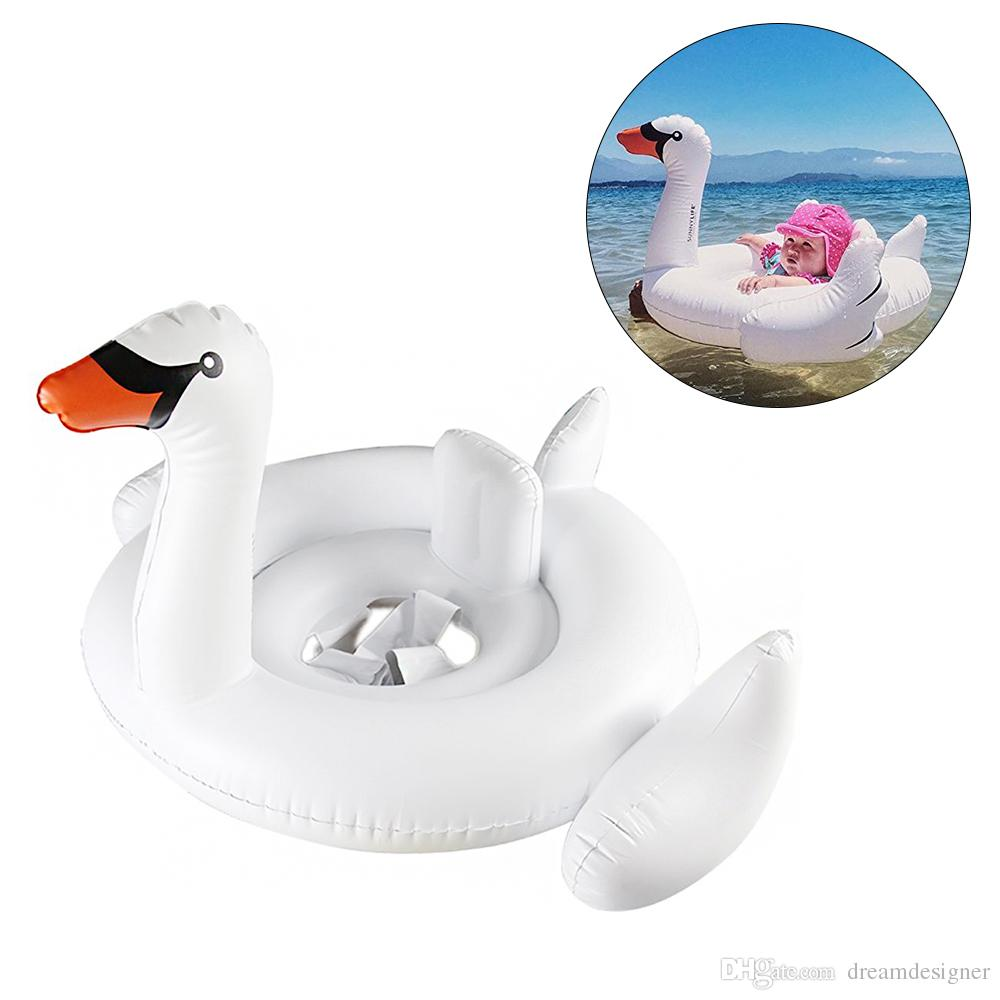 2018 Baby Summer Inflatable Swimming Ring Seat Swan Flamingo Seat ...