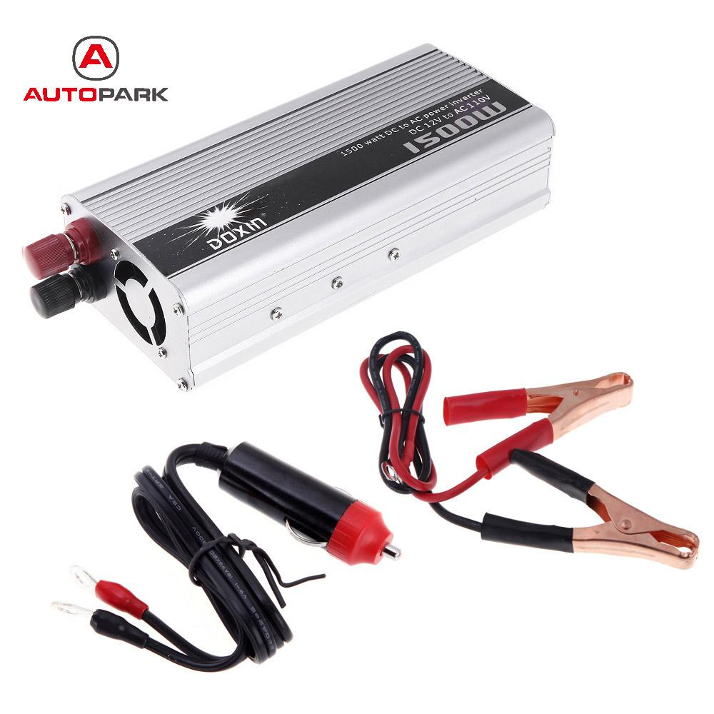 Solarenergie 100% Quality 1500w Dc 12v To Ac 110v Car Auto Power Inverter Charger Converter For He Moderate Price