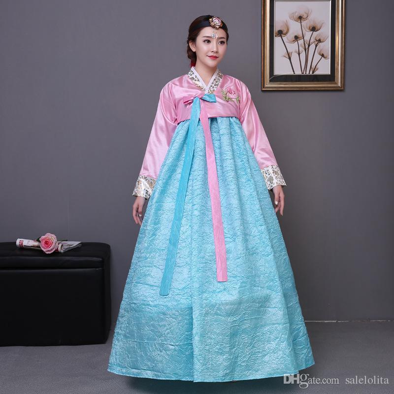 72eb377e692 High Qulaity Korean Hanbok Clothing Women Traditional Hanbok Dress Dance Costume  Clothing Pirate Halloween Costumes Plus Size Costume From Salelolita
