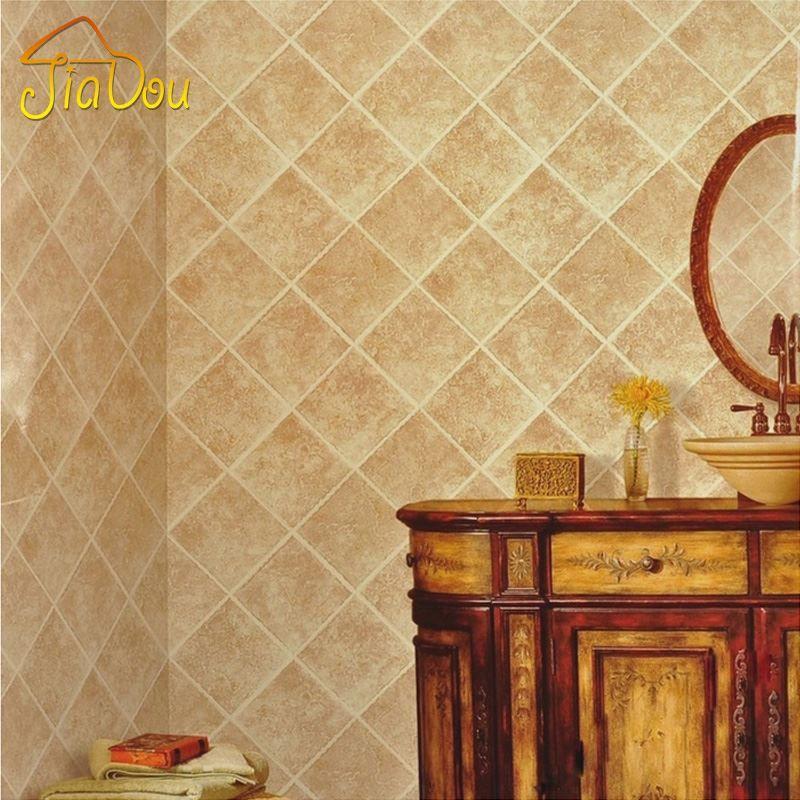3d Imitation Marble Tile Pattern Wallpaper Pvc Waterproof Moisture ...