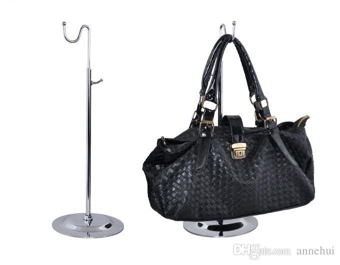 Vente chaude sac à main présentoir femmes sacs présentoir réglable en métal crochet support titulaire perruque chapeau écharpe en soie Magasin de vêtements prop étagère
