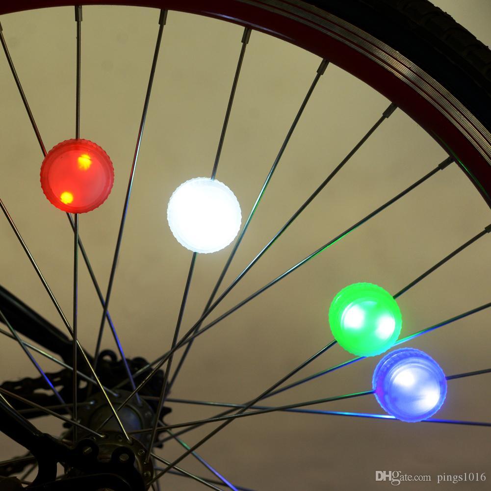Красочные велосипед лампа велосипед Велоспорт водонепроницаемый LED High / Flash режим шины колеса говорил огни с отверткой зеленый / розовый / белый / синий