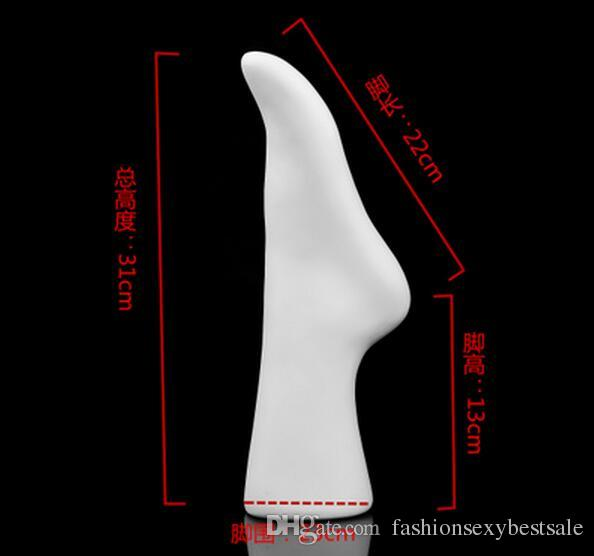foot Mannequin New arrival Skin and white color Glossy Female Mannequin Foot Sock Display ,one piece left foot,M00538