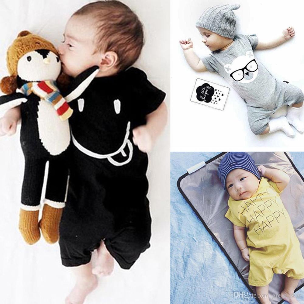 f4a1050ff 2019 New Summer Toddler Jumpsuits Infant Half Sleeves Clothing Baby ...