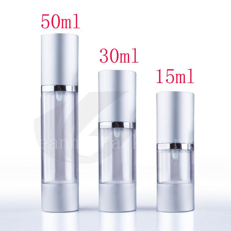 Matte Silver Airless Pump Bottle 50ml X 20 50g Airless