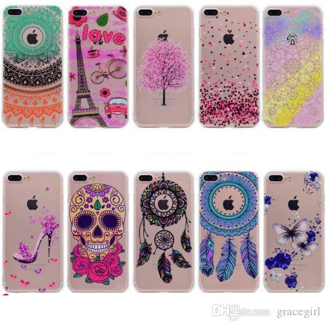 Dreamcatcher Mandala Soft TPU Case For Iphone 8 8th 7 Plus 6 6S 5S ...