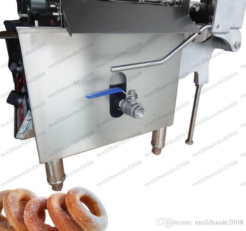NUEVO Mejor sabor Full Gas automático Mini Donut Maker 110 / 220V calidad 3 moldes Donut que hace la máquina / H con prueba CE MYY