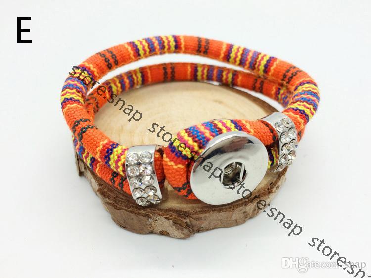 Vente en gros mixte imitation diamant bracelet Charm bouton pression Bracelet Snap Button bijoux bracelet interchangeable fit 18mm bouton