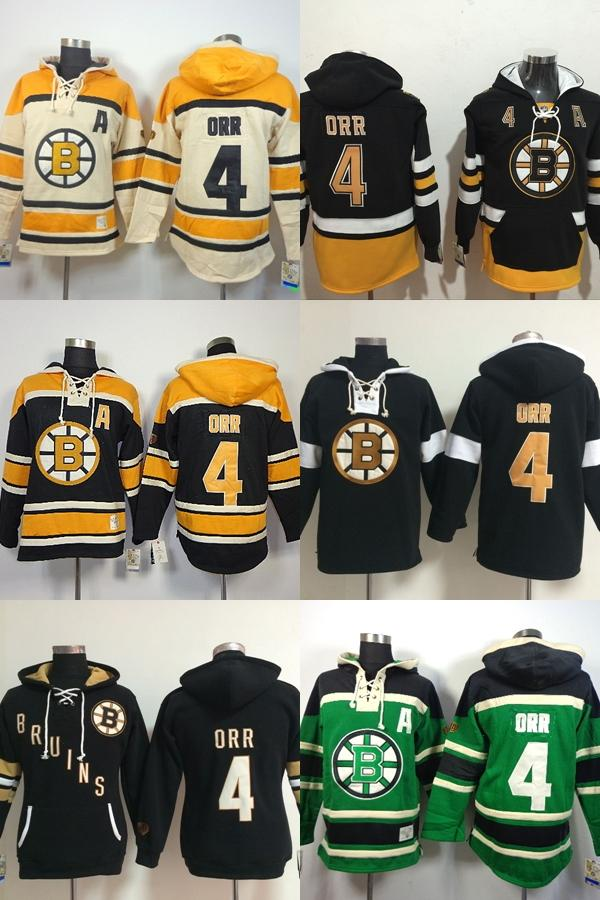 2019 Hot Sale Mens Womens Kids Boston Bruins 4 Bobby Orr Beige Black Green  Best Quality Cheap Embroidery Logo Ice Hockey Hoodies Accept From  Espn sport fa0d1abec