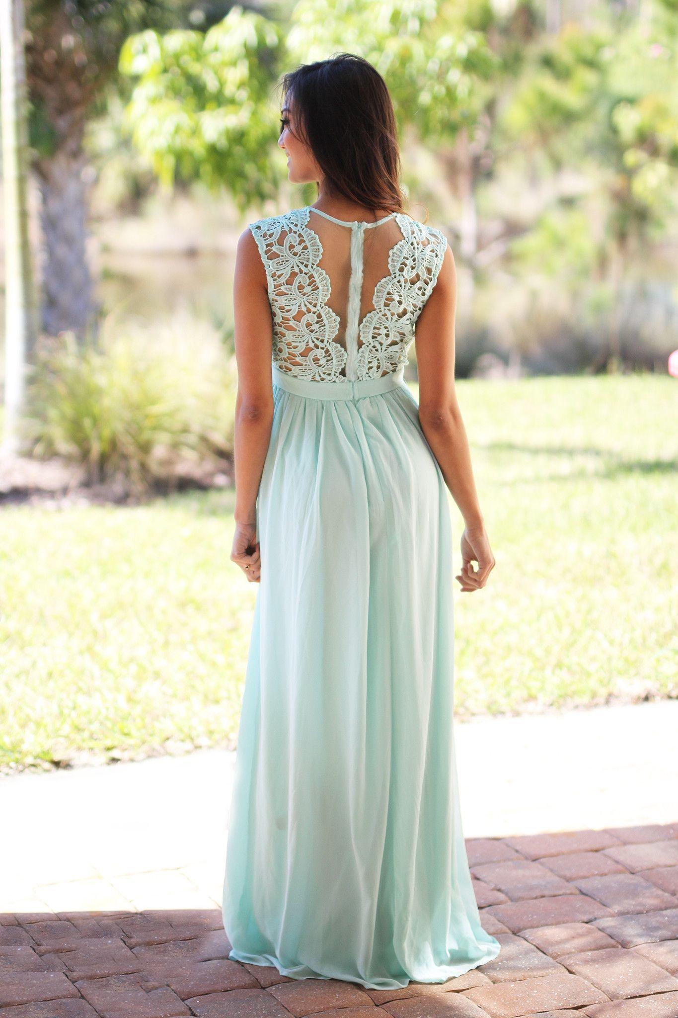 Großhandel Discount Pastell Blue Lace Brautjungfer Kleider 14 Günstige  Jewel Ausschnitt Chiffon Bodenlangen Lange Lange Brautjungfer Kleider Für